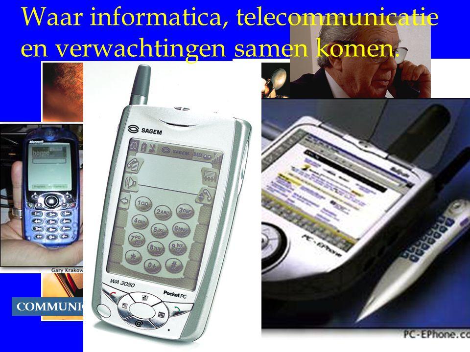 COMMUNICATIONS Waar informatica, telecommunicatie en verwachtingen samen komen.