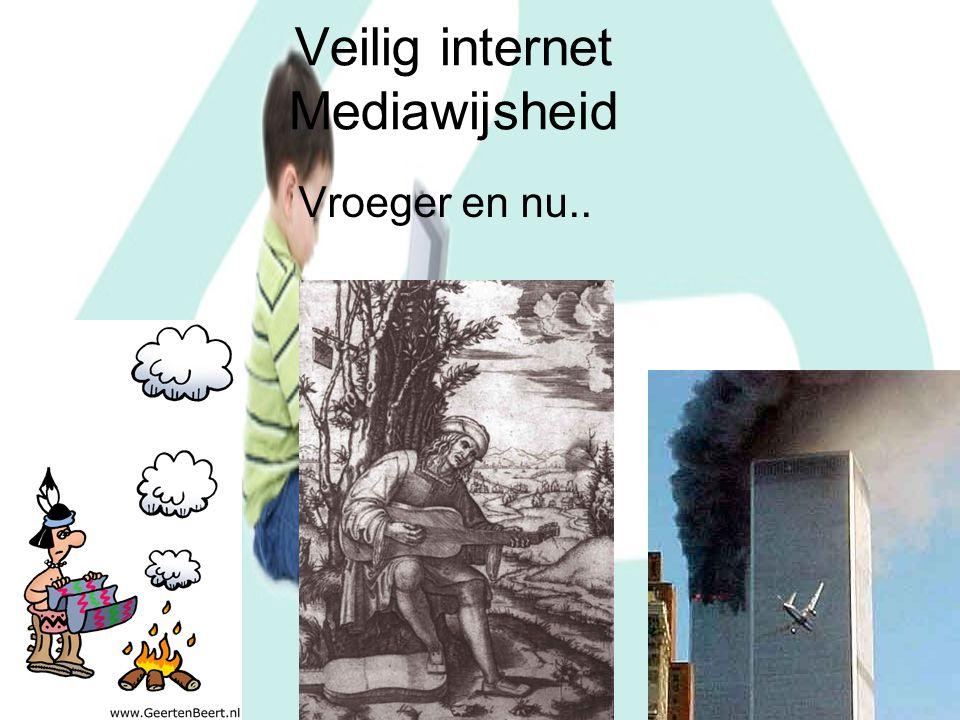 Veilig internet Mediawijsheid Vroeger en nu..