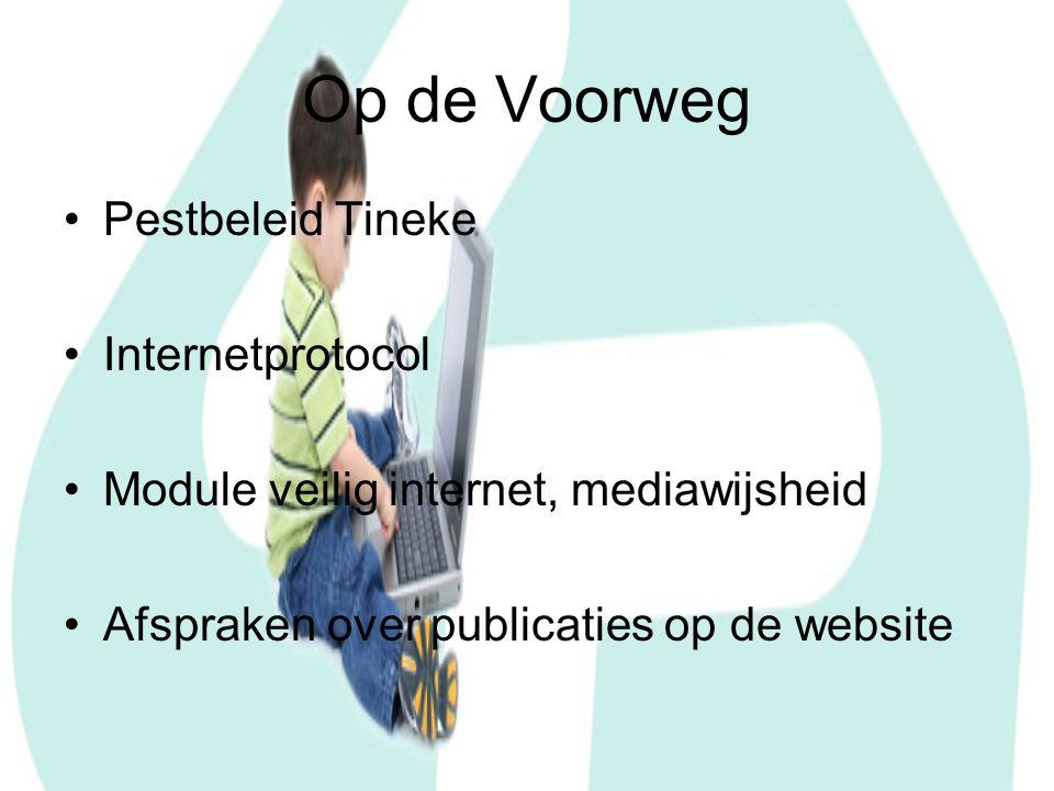 Op de Voorweg Pestbeleid Tineke Internetprotocol Module veilig internet, mediawijsheid Afspraken over publicaties op de website
