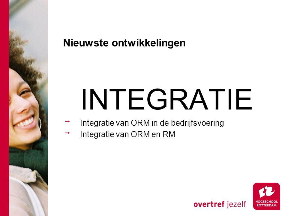 Nieuwste ontwikkelingen INTEGRATIE Integratie van ORM in de bedrijfsvoering Integratie van ORM en RM
