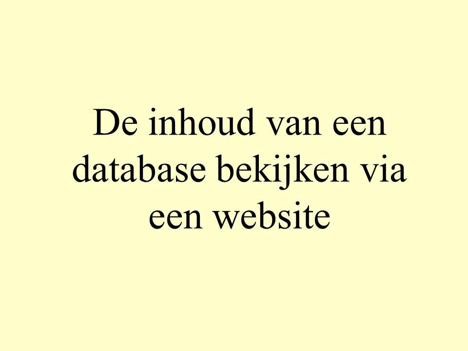 De inhoud van een database bekijken via een website