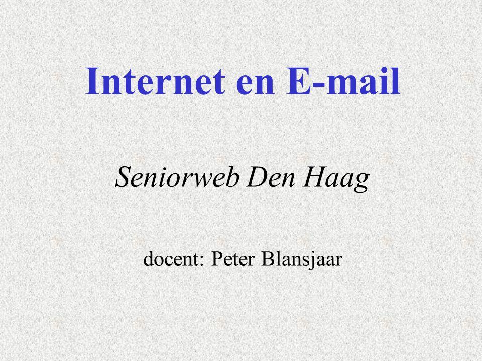 Cursus internet en e-mail Welkom namens Seniorweb .