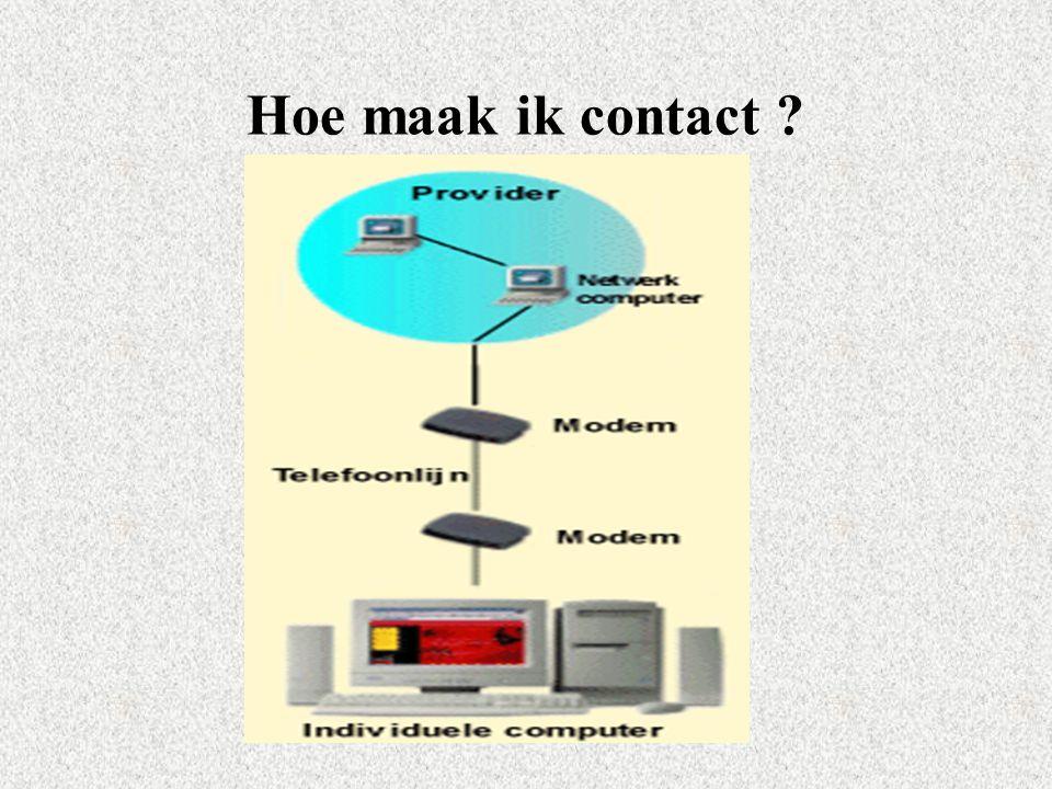 Hoe maak ik contact ?