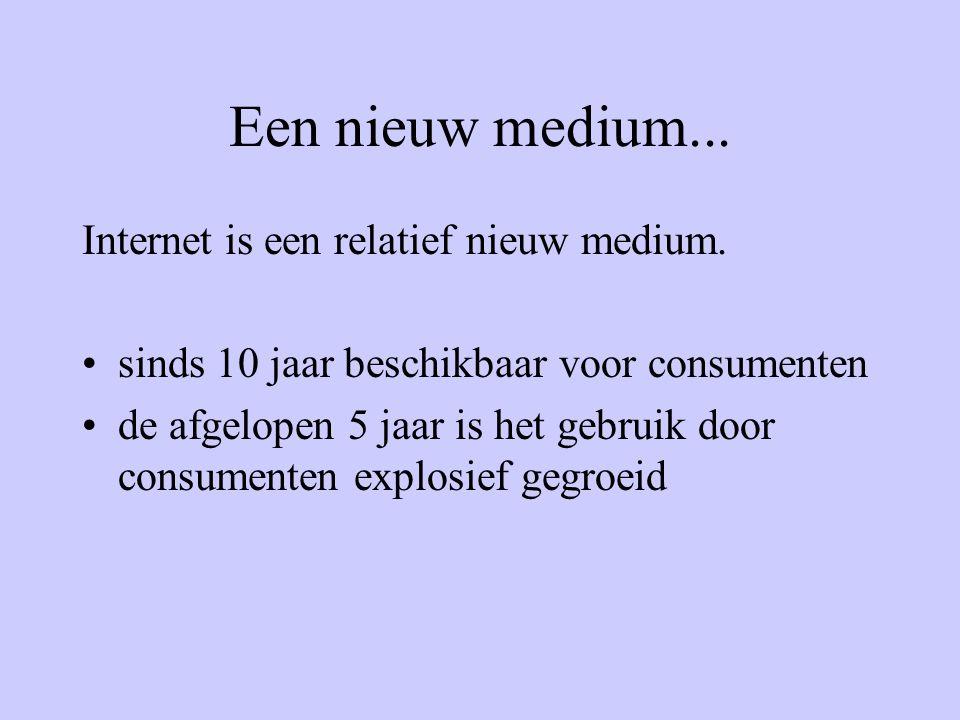 Een nieuw medium... Internet is een relatief nieuw medium.