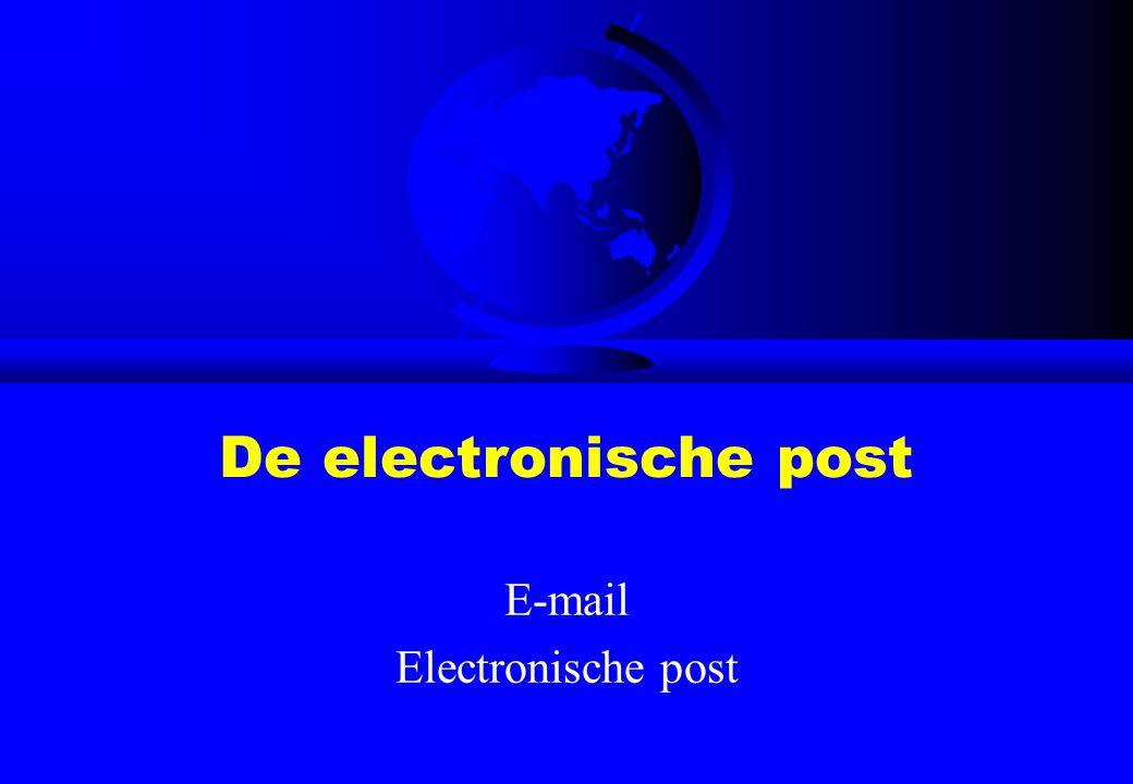 De electronische post E-mail Electronische post
