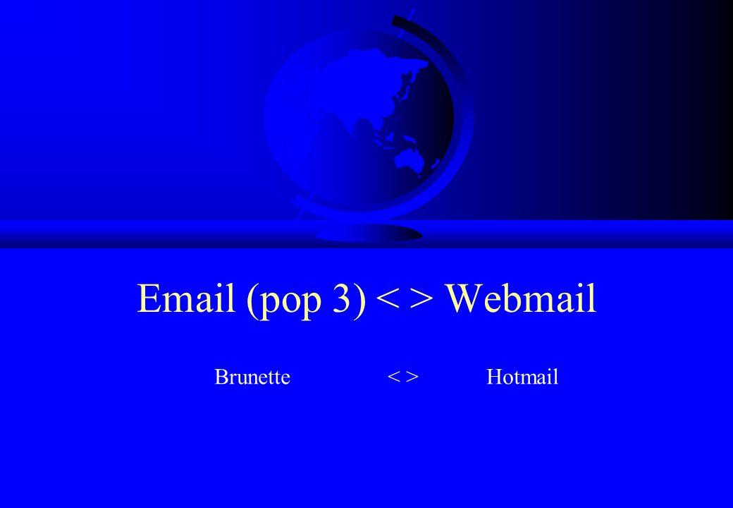 Email (pop 3) Webmail Brunette Hotmail