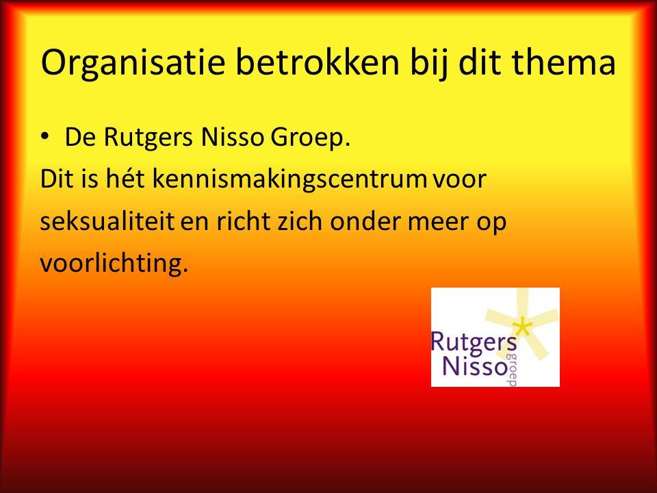 Organisatie betrokken bij dit thema De Rutgers Nisso Groep.