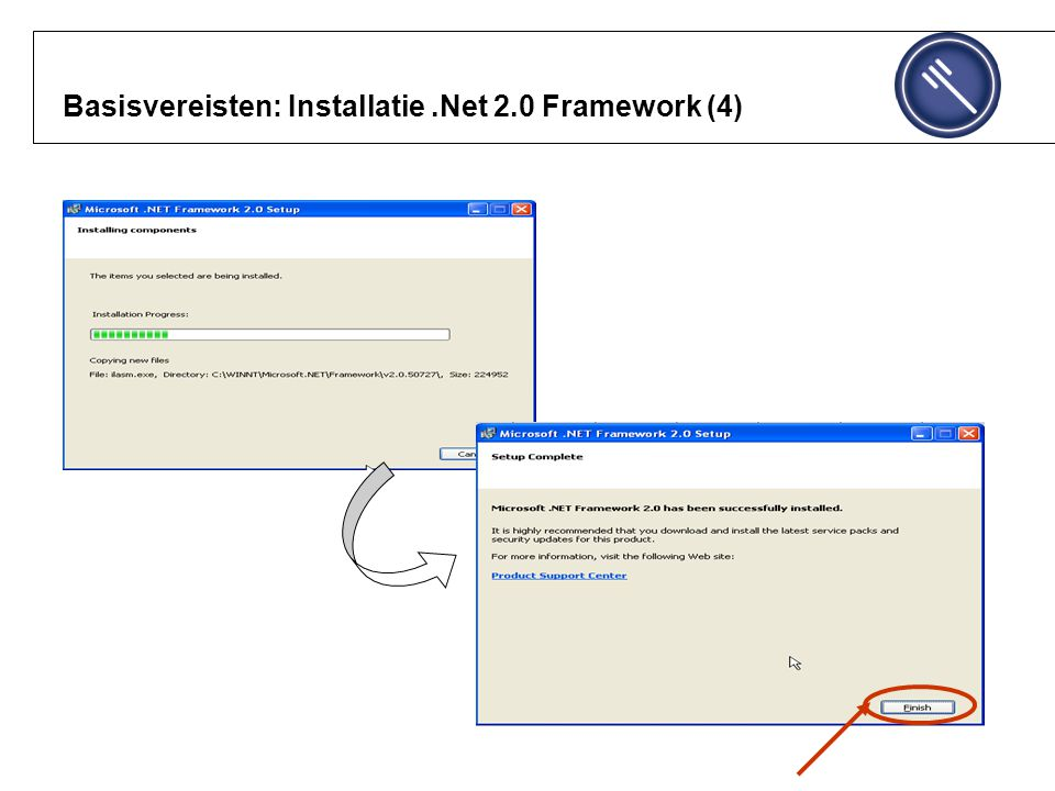 Basisvereisten: Installatie.Net 2.0 Framework (4)