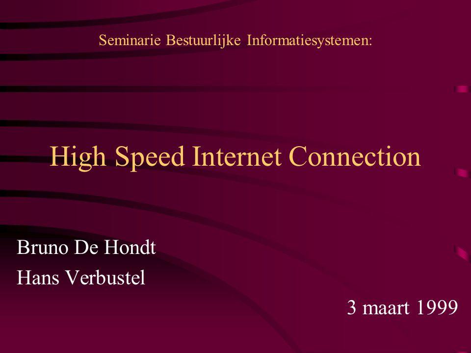 High Speed Internet Connection Inleiding.Probleemstelling.