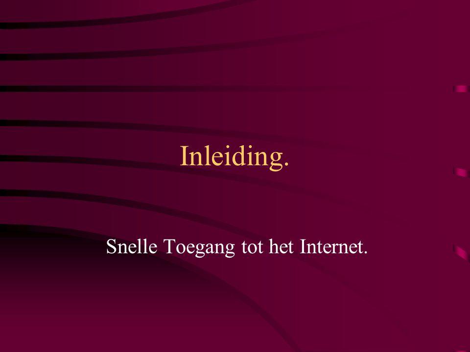 Snelle Toegang via Telefoonnetwerken: xDSL.