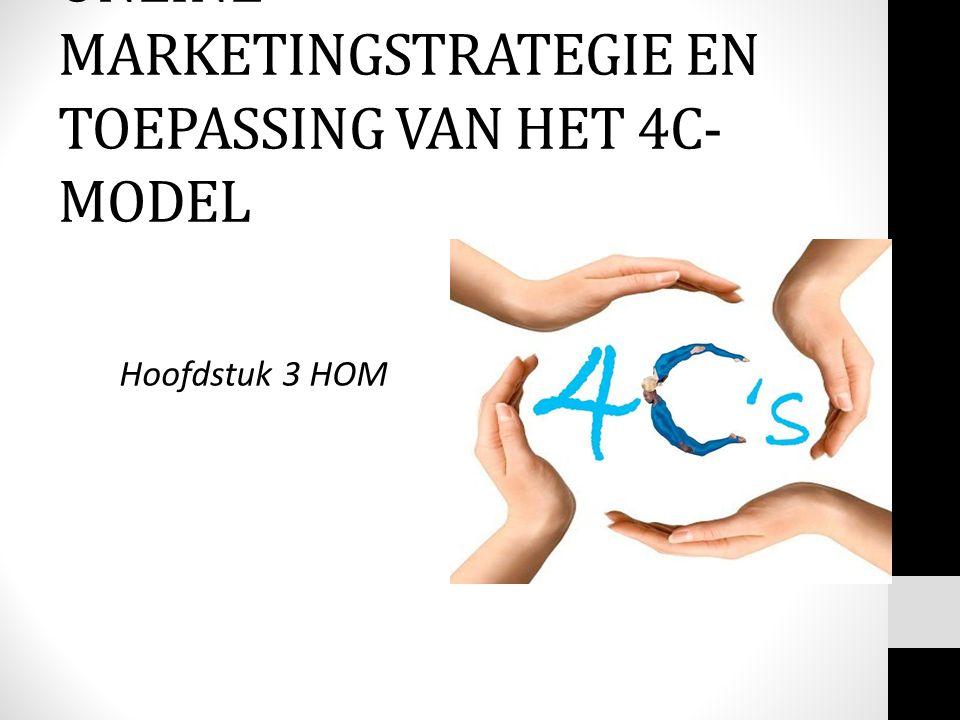 Hoofdstuk 3 HOM ONLINE MARKETINGSTRATEGIE EN TOEPASSING VAN HET 4C- MODEL