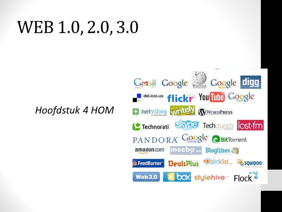 WEB 1.0, 2.0, 3.0 Hoofdstuk 4 HOM