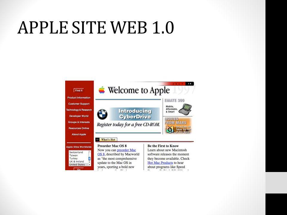 APPLE SITE WEB 1.0