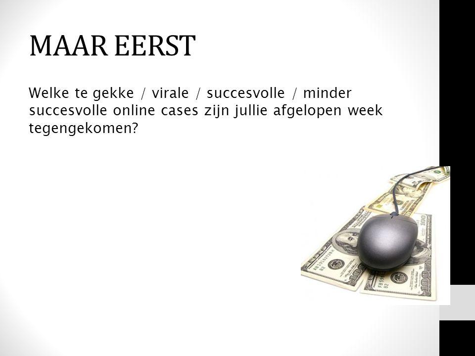 Welke te gekke / virale / succesvolle / minder succesvolle online cases zijn jullie afgelopen week tegengekomen? MAAR EERST
