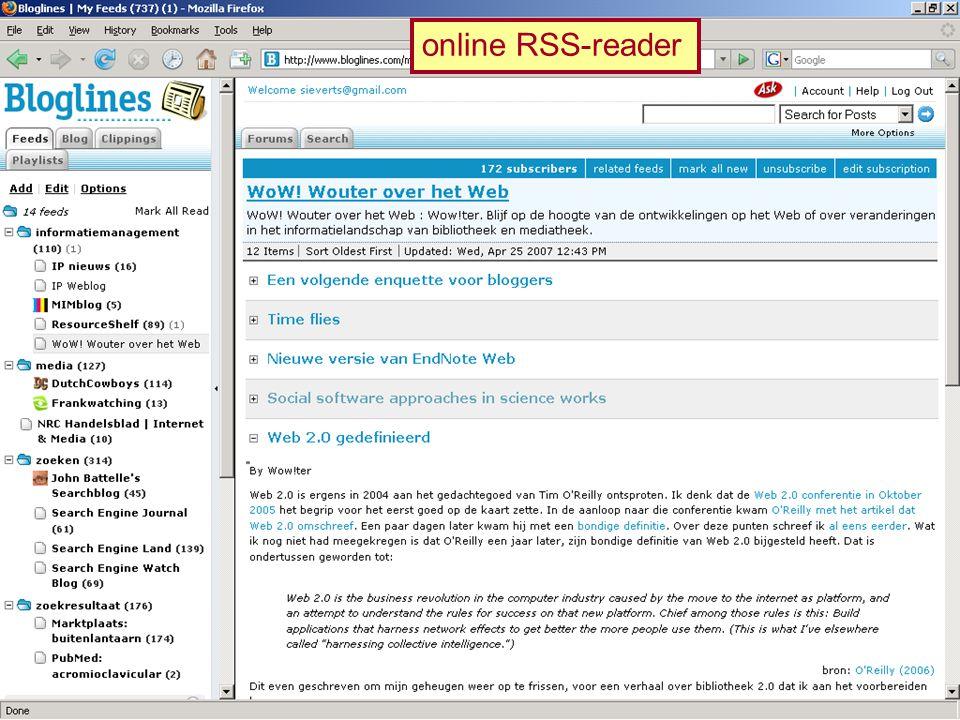 online RSS-reader
