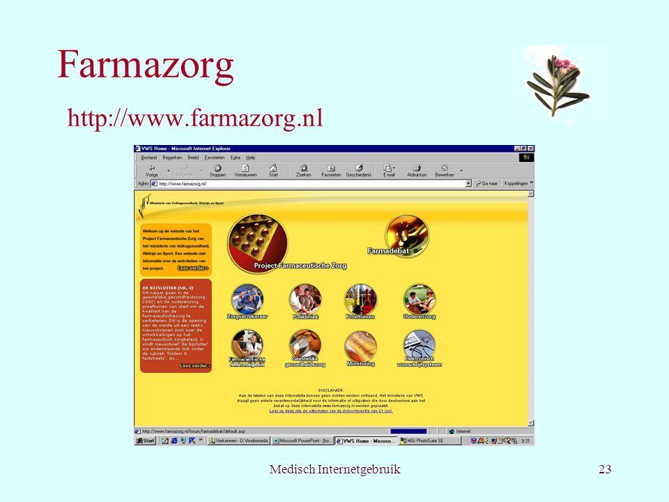 Medisch Internetgebruik23 Farmazorg http://www.farmazorg.nl