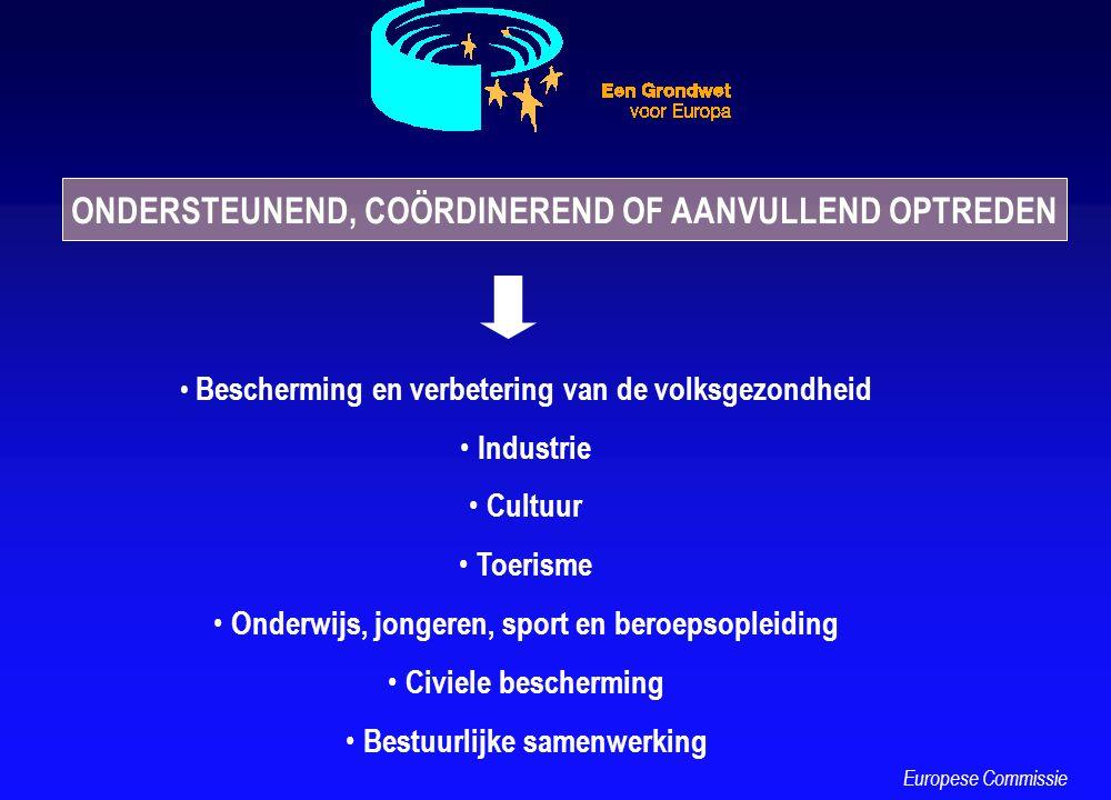 Bescherming en verbetering van de volksgezondheid Industrie Cultuur Toerisme Onderwijs, jongeren, sport en beroepsopleiding Civiele bescherming Bestuu