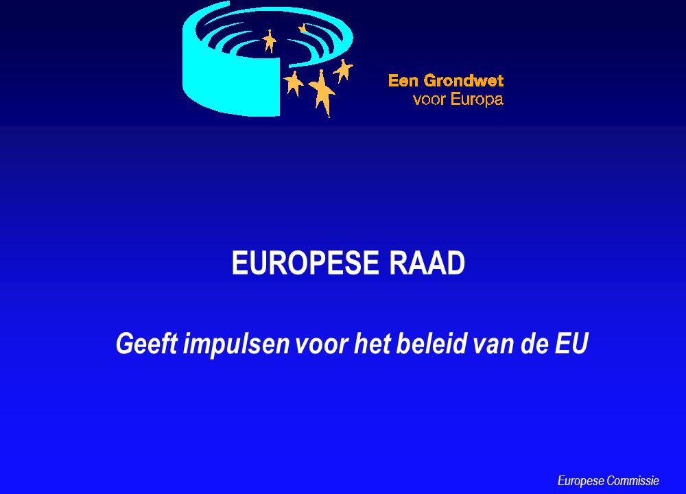 EUROPESE RAAD Geeft impulsen voor het beleid van de EU Europese Commissie