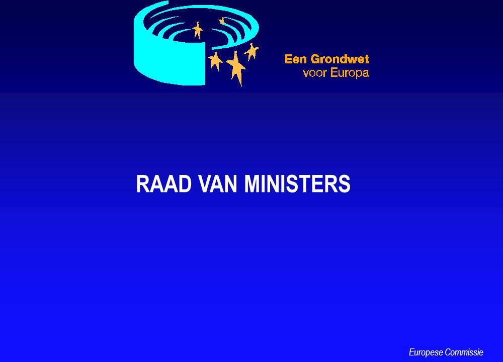 RAAD VAN MINISTERS Europese Commissie