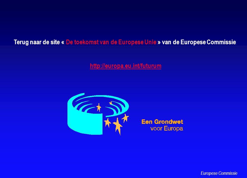 Terug naar de site « De toekomst van de Europese Unie » van de Europese Commissie http://europa.eu.int/futurum Europese Commissie