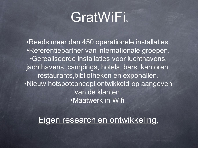 GratWiFi ® Reeds meer dan 450 operationele installaties.