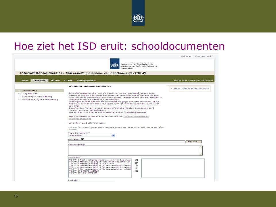 13 Hoe ziet het ISD eruit: schooldocumenten