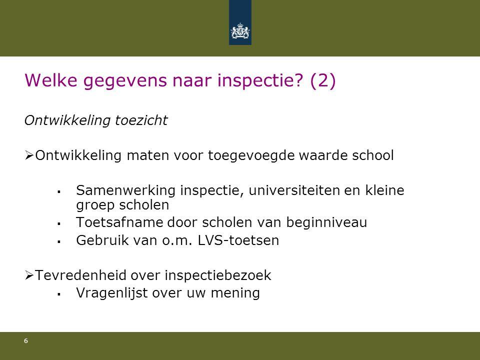 7 Welke gegevens naar inspectie.