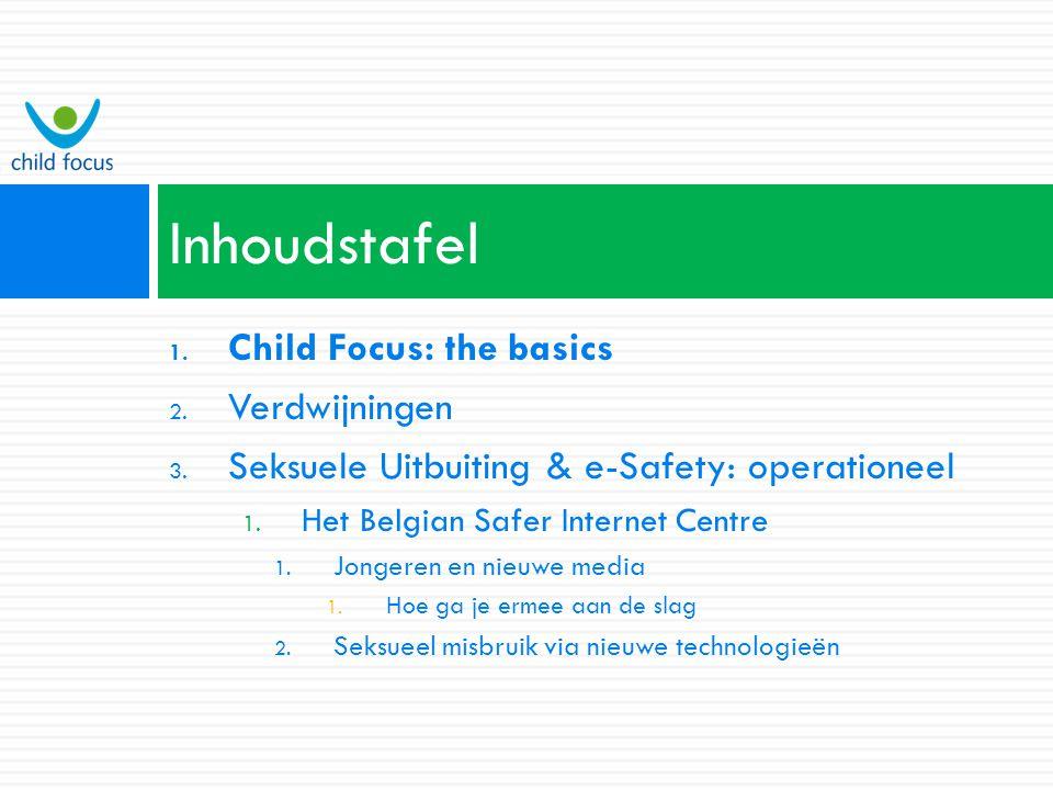 Contact Helpline - email (clickhelp@childfocus.org) - téléphone (02 / 475 44 00), - SMS ( apelle-moi ) - Formulaire en ligne