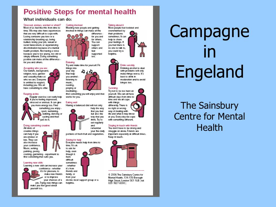 Campagne in Engeland The Sainsbury Centre for Mental Health