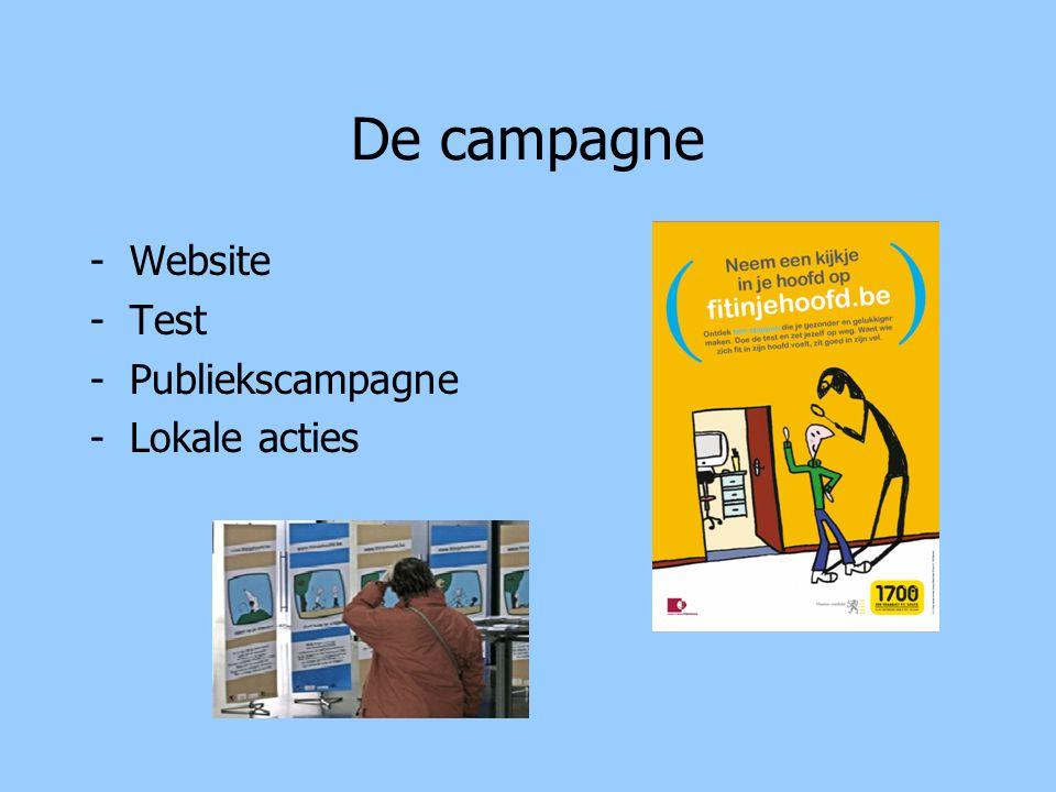 De campagne -Website -Test -Publiekscampagne -Lokale acties