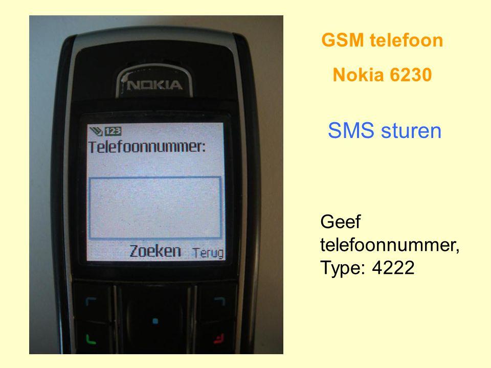 GSM telefoon Nokia 6230 SMS sturen Geef telefoonnummer, Type: 4222