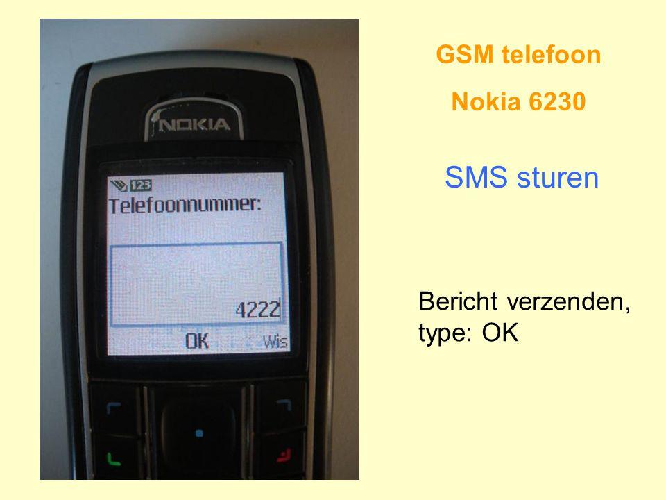 GSM telefoon Nokia 6230 SMS sturen Bericht verzenden, type: OK