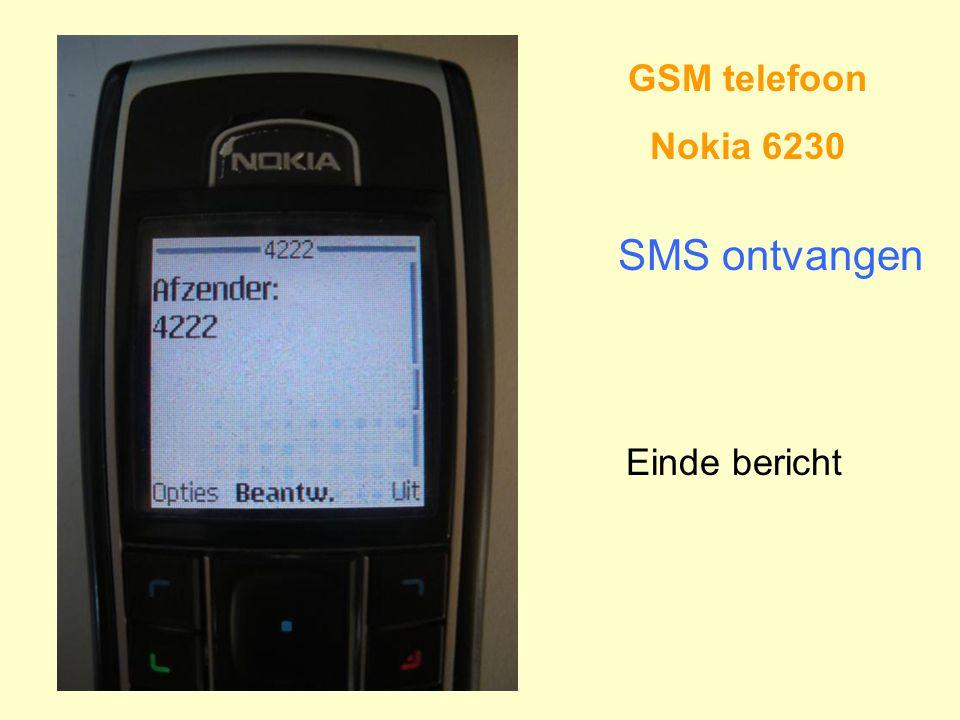 GSM telefoon Nokia 6230 SMS ontvangen Einde bericht