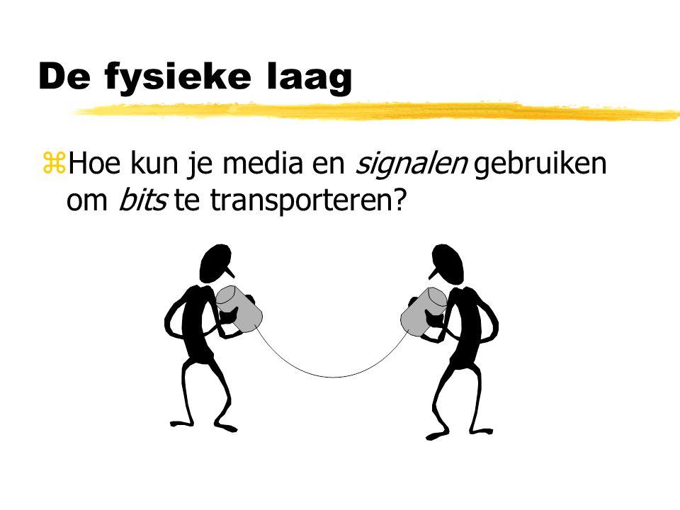 De fysieke laag zHoe kun je media en signalen gebruiken om bits te transporteren?