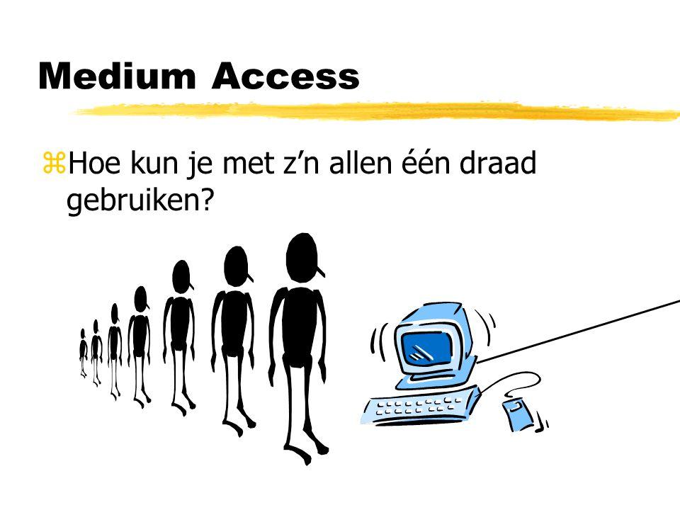 Medium Access zHoe kun je met z'n allen één draad gebruiken?