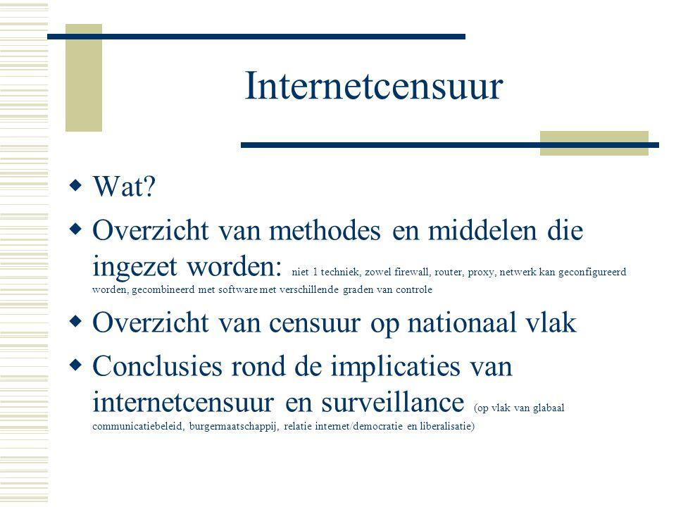 Internetcensuur  Wat.