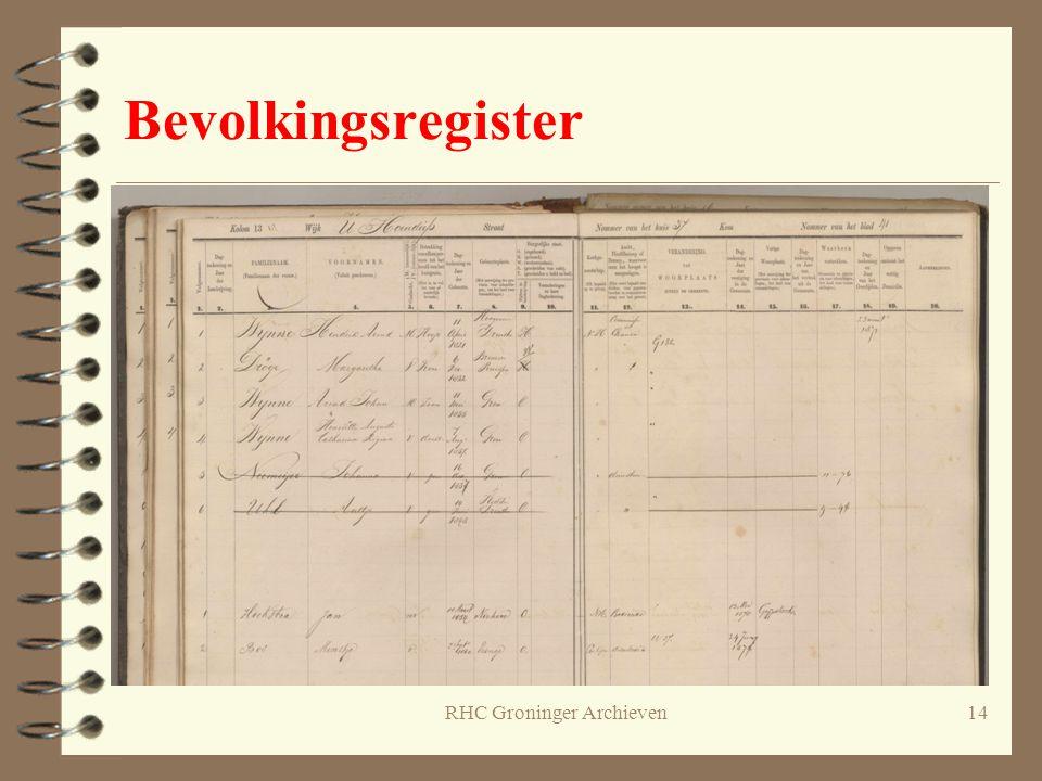 RHC Groninger Archieven14 Bevolkingsregister