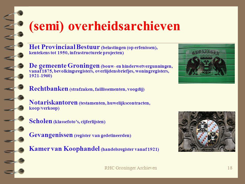 RHC Groninger Archieven18 (semi) overheidsarchieven Het Provinciaal Bestuur (belastingen (op erfenissen), kentekens tot 1950, infrastructurele project