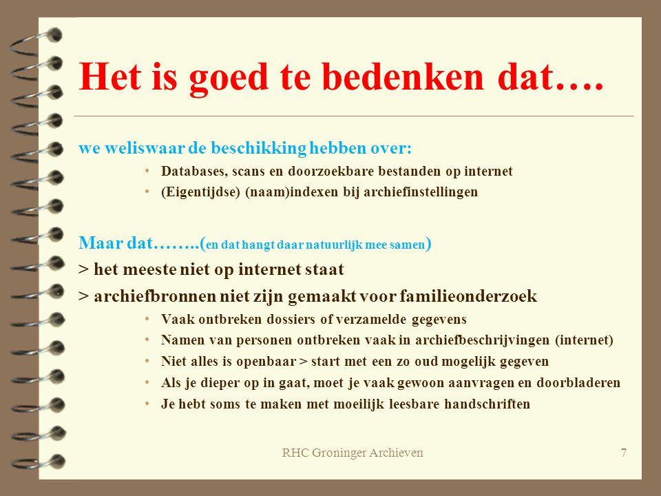 Starten op internet 4 www.meertens.knaw.nl > verspreiding familienamen, voornamen www.meertens.knaw.nl 4 www.allegroningers.nl (www.wiewaswie.nl) > persoonsgegevens www.allegroningers.nlwww.wiewaswie.nl 4 www.beeldbankgroningen.nl > afbeeldingen (www.beeldbankhs.nl) www.beeldbankgroningen.nlwww.beeldbankhs.nl 4 www.groningerarchieven.nl (www.archieven.nl) > archieven van o.a.