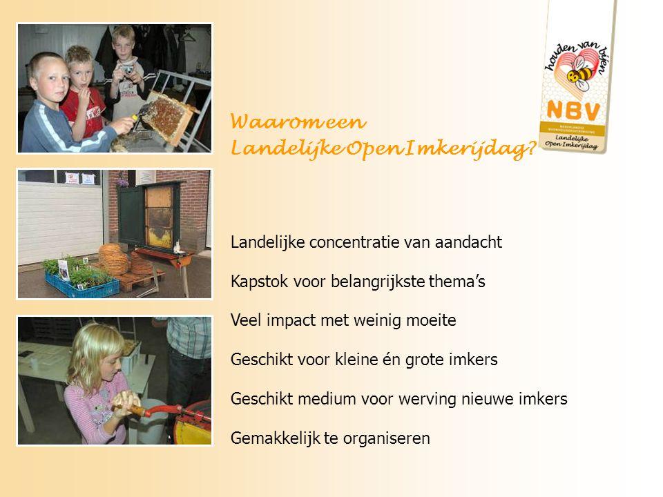 Maak een goed overzicht met adressen en parkeermogelijkheden Stuur ons dit overzicht ook wij zorgen voor vermelding op de site van www.bijenhouders.nl Hoe pak je het aan.