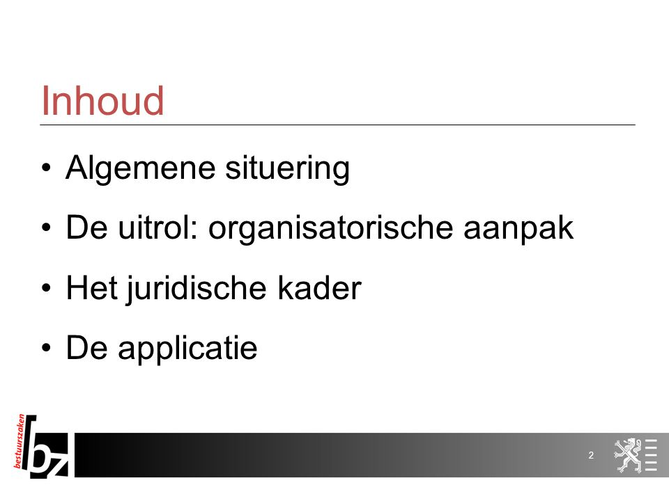 E-tendering Informatiesessie voorjaar 2010