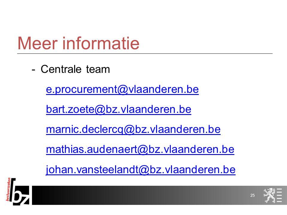 e-tendering: gebruik van de applicatie Marnic De Clercq