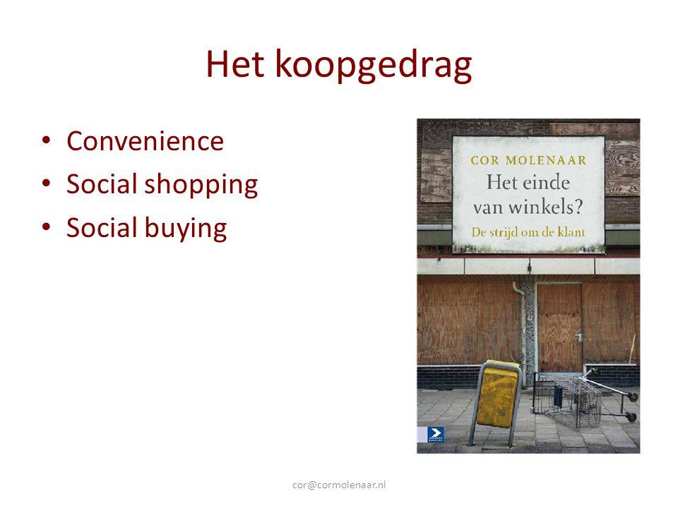 Het probleem van retail Internetverkopen Te hoge kosten Te lage omzet Te weinig klanten Te weinig toegevoegde waarde cor@cormolenaar.nl