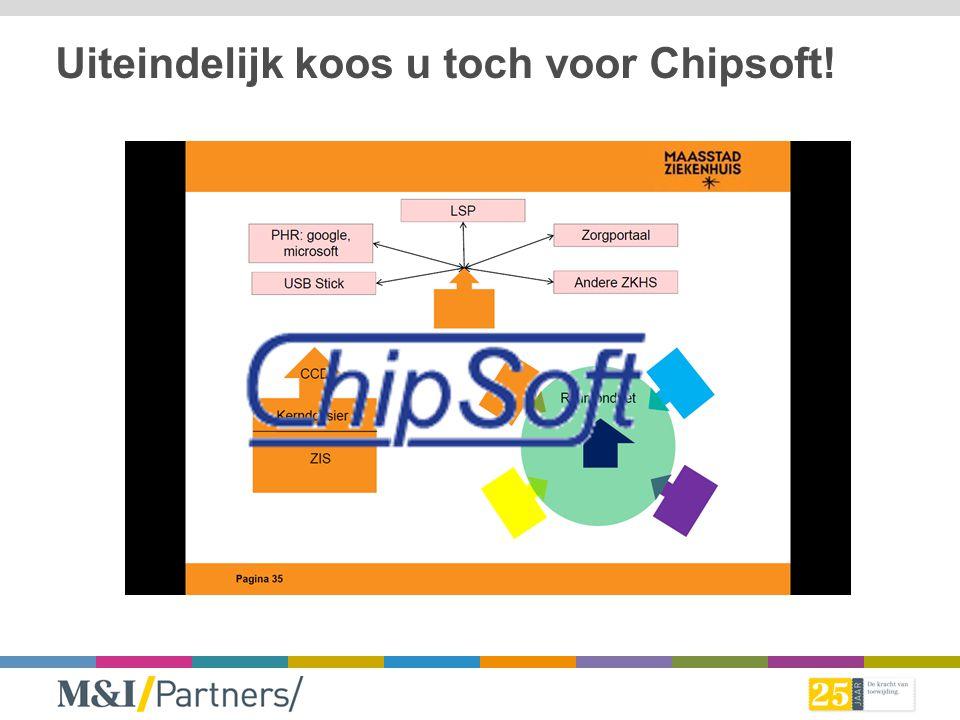 Uiteindelijk koos u toch voor Chipsoft!