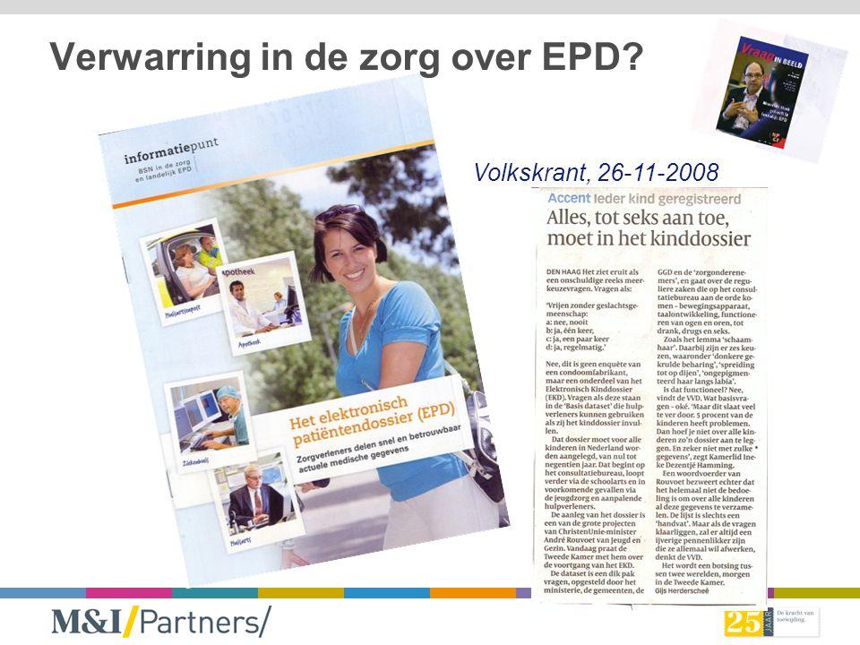 EPD of structuur van indexering? Regionaal of landelijk? 2006 2007 2008 2009 2010 2011