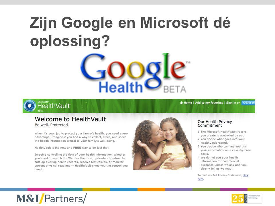 Zijn Google en Microsoft dé oplossing?