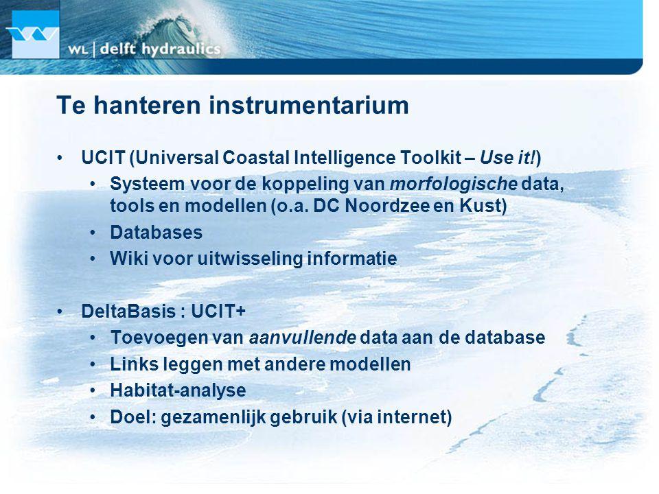 Van Koningsveld, Stive and Mulder (2004) Van Koningsveld, Morelissen en De Boer (2006) MySQL mc_database mc_toolbox McTools - Marine and Coastal Tools McWiki UCIT - GUI models Van Koningsveld and Lescinski (2007)