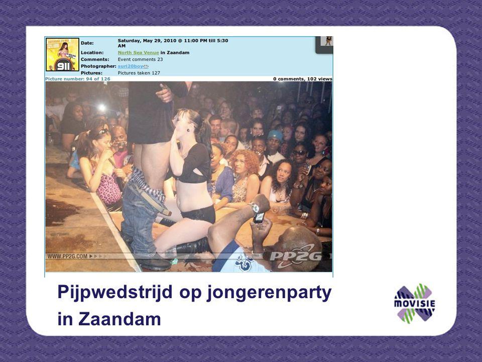 Pijpwedstrijd op jongerenparty in Zaandam