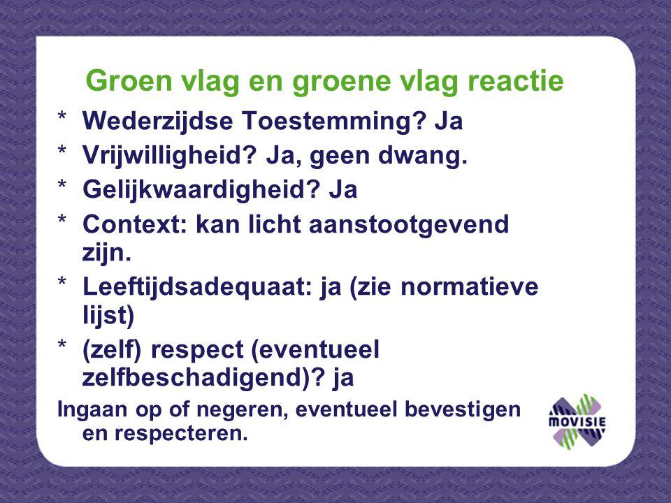 Groen vlag en groene vlag reactie *Wederzijdse Toestemming.