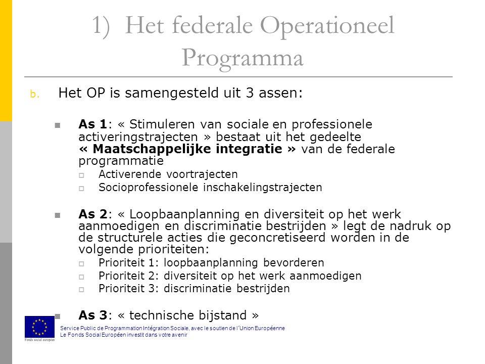 1) Het federale Operationeel Programma b.